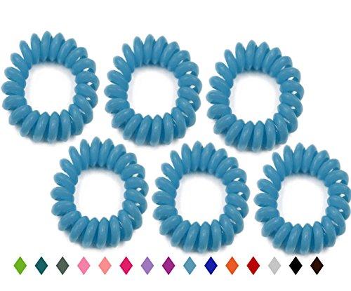 Wähle deine Farbe Haargummi Spirale Telefonkabel Anti Spliss Zopfgummi Fitness Haarband Spiralhaargummi 3er 4er 5er 6er Pack für Damen und Mädchen