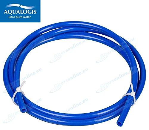 5m Blau Wasserrohr 3/8' (9,5 mm außen) für Systeme Umkehrosmose, Kühlschränke, espresso...