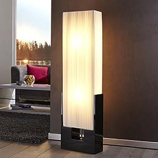 XL Stehlampe ESPERANCE Weiss/Schwarz Hochglanz 120x30cm - Art déco Design - Designer Stehleuchte von ambientica
