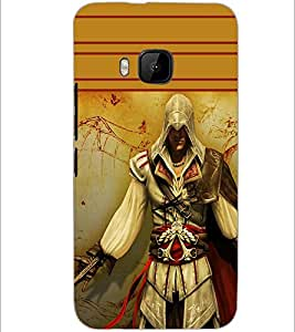 PrintDhaba Warrior D-1891 Back Case Cover for HTC ONE M9 (Multi-Coloured)