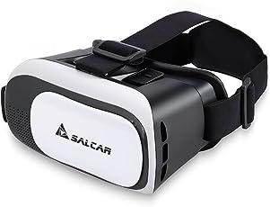 Salcar 3D Virtuelle Realität (VR) Brille für 4,5 – 5,7 Zoll Smartphones, Weiß