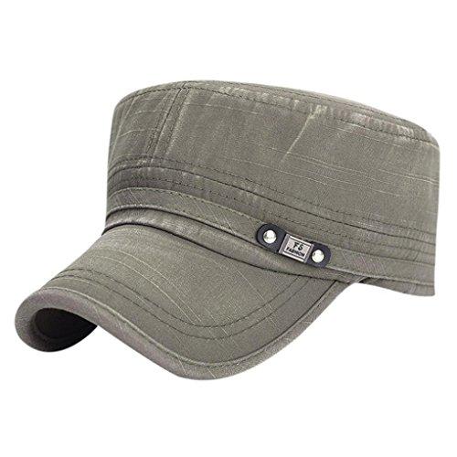 UFACEFlache Baseballmütze mit flachem Top Baseballmütze Mode Hüte für Männer - Grün Frauen-ski-schutzbrillen