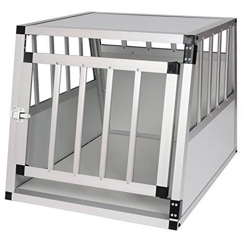 EUGAD Hundebox Hundetransportbox Aluminium Transportbox Alubox Hund 1 Türig Reisebox Gitterbox...