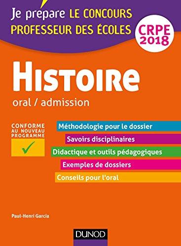 Histoire - Professeur des écoles - Oral / admission - CRPE 2018 (Concours enseignement)