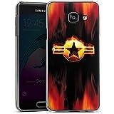 Samsung Galaxy A3 (2016) Housse Étui Protection Coque Étoile Emblême Flammes