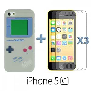 For SamSung Note 2 Case Cover Style Silicone Skin Case / Cover / Shell - Grey with 3 Screen Protector