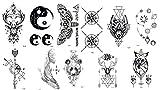 11 Bögen Tattoos schwarz Linien Tattoos Grafische Tattoos Coole Motiven Top Trend