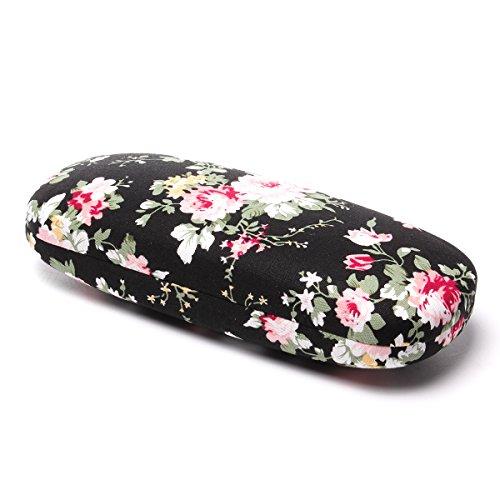 illenetui Hardcase Kunststoff Blumen Klein Damenbrillen Brillenbox Noten Fur Grils (A) ()