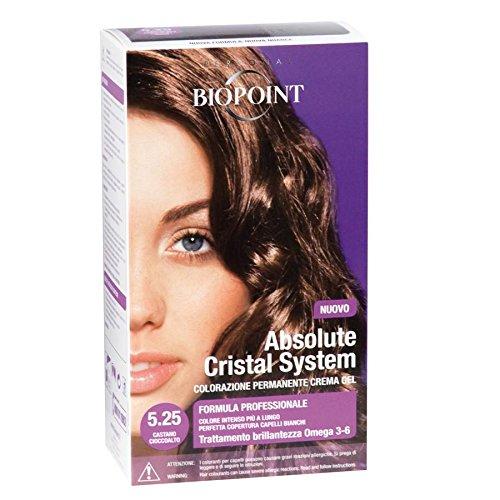 Biopoint Linea Absolute, Tinta Per Capelli (Colore 5.25, Castano Cioccolato) - 30 ml.