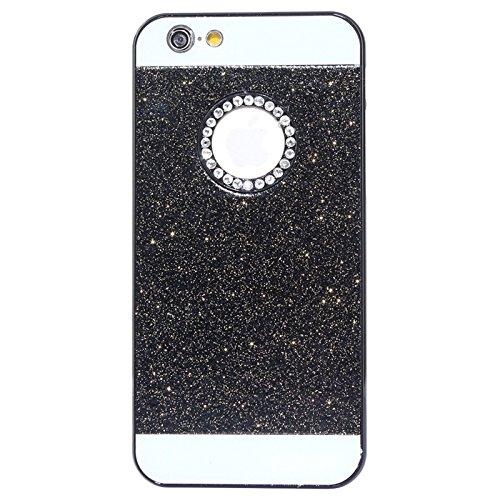Phone case & Hülle Für IPhone 6 Plus / 6S Plus, UV Shimmering Pulver Diamant-verkrustet Schutzmaßnahmen harten Fall ( Color : Pink ) Black