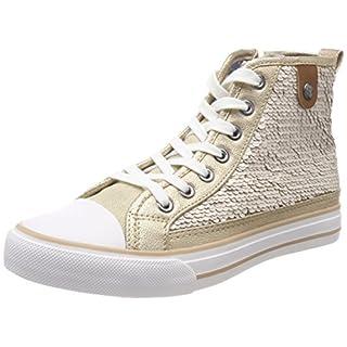 Stiefelparadies Damen Plateau Sneaker Metallic Lack Schuhe High Heel Plateauschuhe 155482 Weiss 36 Flandell Mgj0o