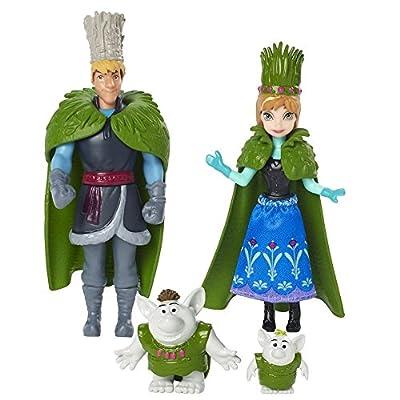 Disney Frozen - Deluxe Figuras y Muñecas Set el estío Anna, Kristoff Y Trolls de Mattel