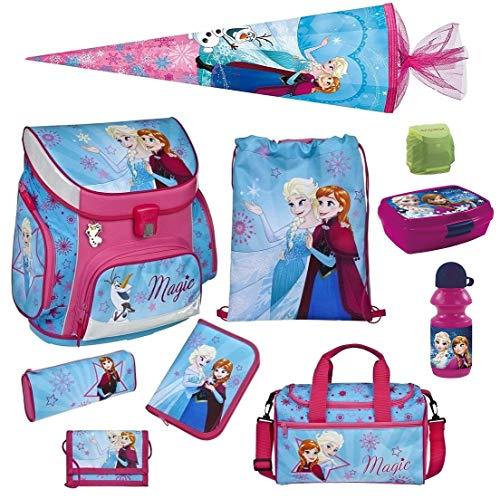 Familando Disney die Eiskönigin Schulranzen-Set 10-TLG. Scooli Campus Up Frozen Magic mit Sporttasche Federmappe Schultüte 85 cm und Regenschutz