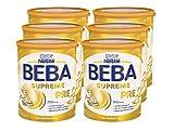 Nestlé BEBA SUPREME PRE Anfangsmilch: von Geburt an, trinkfertiges Pulver, hypo-allergene Säuglingsnahrung, mit Omega 3, 6er Pack (6 x 800g)