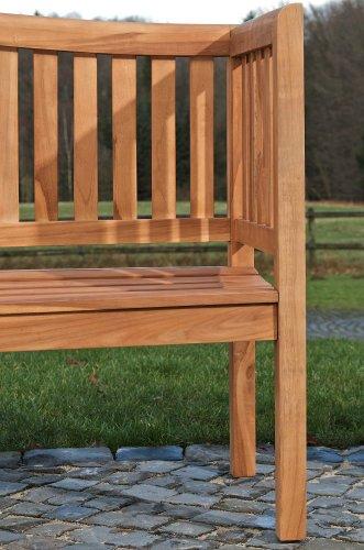 CLP wetterfeste Teak Gartenbank MARVEL aus massivem Teakholz (bis zu 5 Größen wählbar) 220×64 cm - 6