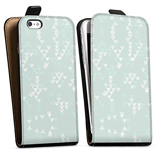 Apple iPhone X Silikon Hülle Case Schutzhülle Muster Abstrakt Grafik Downflip Tasche schwarz