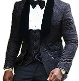 auguswu -  Giacca da smoking  - Uomo Black M