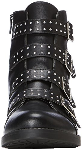 Dorothy Perkins Damen Malex Stud Biker Boots Schwarz (Black)