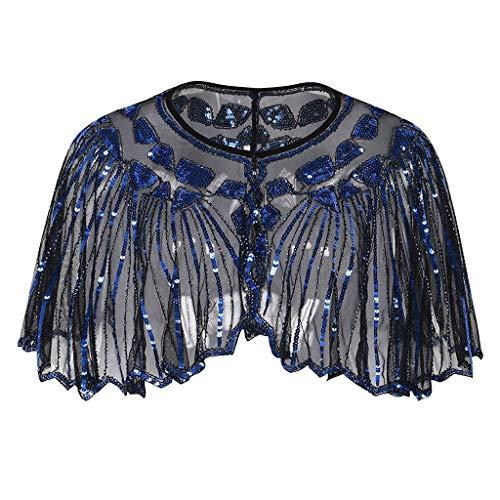 JackRuler Frauen Perlen Pailletten Bankettabendkleid Deko Abend Cape High-End-Pailletten-Stadium europäischen und amerikanischen Hochzeitskleid Schal -
