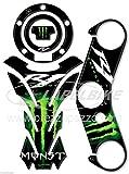 KIT ADESIVI in gel 3D per MOTO compatibili con YAMAHA YZF R1 2004-2006 Verde Monster