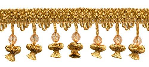 21/5,1cm Perlen Zwiebel Quaste Fransen, antik gold-C4(Verkauft von der Hof)