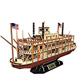 CubicFun 3D Puzzle Mississippi Steamboat Model Kit para niños y...
