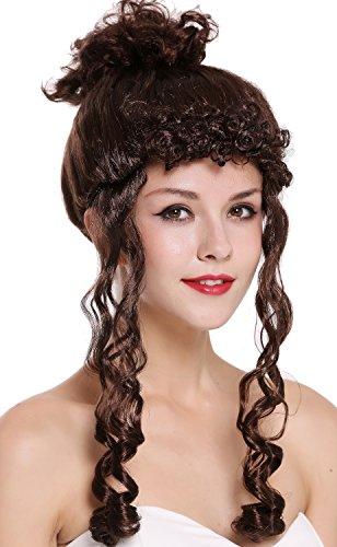 WIG ME UP - CXH-007-P4 Perücke Karneval Damen Barock Viktorianisch Hochsteckfrisur Löckchen Braun