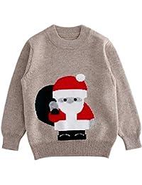 Xmas Weihnachten Winter Strickpullover Baby Jungen Rentier Schneemann Gr.56-92