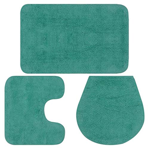 Vidaxl 133228 - tappetino da bagno, 3 pezzi tappeto bagno tessuto bagno copertura bagno tessuto misura 50 x 78 cm (l x l)