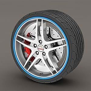 Jaguar XF Blue Rimblades Alloy Wheel Edge Ring Rim Protectors Tyres Tire Guard Rubber Moulding