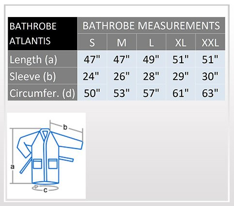 Atlantik- Peignoir de bain en éponge en stil kimono pour femme 100% Coton Tissu bouclette doux et léger Robe de chambre Blanc