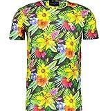 Criminal Damage Herren T-Shirt Green, Yellow, Sky Blue, Purple, Black Gr. L, Green, Yellow, Sky Blue, Purple, Black