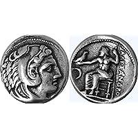 Griechischen Mythologie, Medaille von Alexander der Große, König von Mazedonien, der Herrscher der Welt in 323BC. (# S)