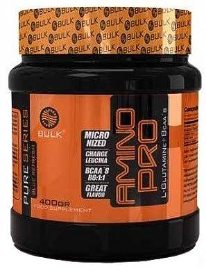 Bulk Nutrition Unisex Amino Pro Glutamine Plus Bcaa 6:1:1 Powder, Multicolour, 400 g from Nutrytec