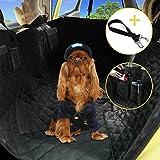 hokonui Luxus Faltbar Pet Dog Travel Multifunktionelle Autositzbezüge, wasserdicht Hängematte hinten Sitz, mit Seitenklappen & einen kostenlosen Sicherheit Sicherheitsgurt