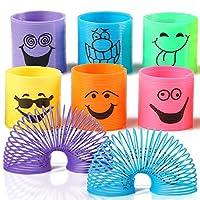THE TWIDDLERS 96 Mini Smiley Rainbow Springs En Colores Surtidos - Slinkys Ideales para Sorteos De Fiestas, Juguetes, Cumpleaños Y Bolsas De Navidad Y Rellenos De Medias, Premios De Clase de THE TWIDDLERS