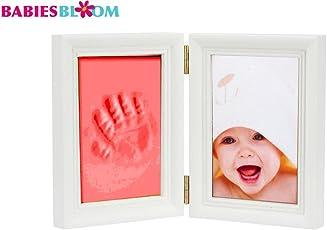 Babies Bloom Baby Keepsake Life Story Imprint Frame, Red, Frame Size: 23 x 15 x 4 cm, Photo Size: 12 x 8 cm