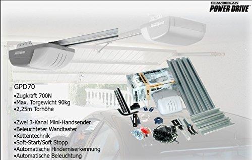 Chamberlain Garagentorantrieb Power Drive GPD70-2 mit 2 Handsender Kettenantrieb
