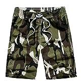 Casuales Gran Tamaño De La Sección Delgada Pantalones Cortos De Playa Camuflaje Sueltos De Los Hombres De Verano HAOYUXIANG,ArmyGreen-XXL