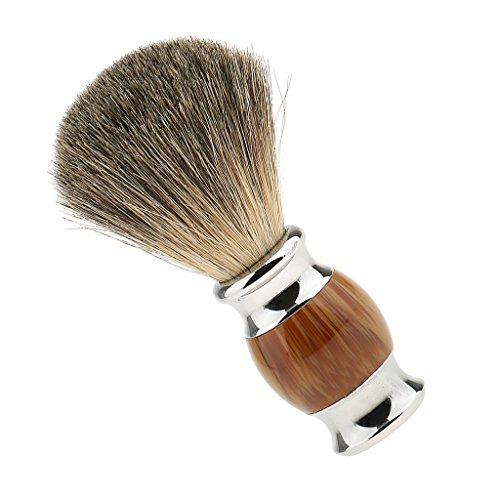 Segolike High Quality Resin Salon Barber Men Shaving Brush Professional Mens Long Handle Shave Brush Tool - 02