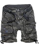 Brandit Herren Belted Cargo Vintage Shorts