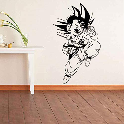 zhuziji Cartoon Dragon Ball Sun Wukong Vinyl Wandtattoo Wohnkultur Wohnzimmer Cartoon Wandtattoo Wohnkultur Wandaufkleber Kaffee Farbe 58 X 34 cm - Honig Francisco San