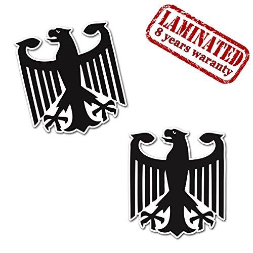 Skino 2 Stück Vinyl Aufkleber Autoaufkleber Deutschland Deutsche Wappen Flagge Fahne Aufnäher Abzeichen Deutscher Adler Stickers Auto Moto Motorrad Fahrrad Helm Fenster Tuning B 181