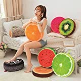 Skylofts 42cm*7cm Throw Pillow Designer Fruit Cushion For Home Decor , ( Pack Of 4 Different Cushions)