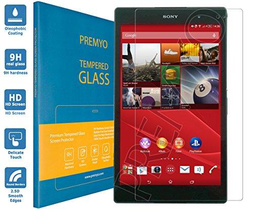 PREMYO Vetro Temperato per Sony Xperia Z3 Tablet Compact Pellicola Protettiva Protezione Schermo Compatibile con Sony Z3 Tablet Compact Durezza 9H Bordi 2,5D Anti-Graffi Bolle Impronte