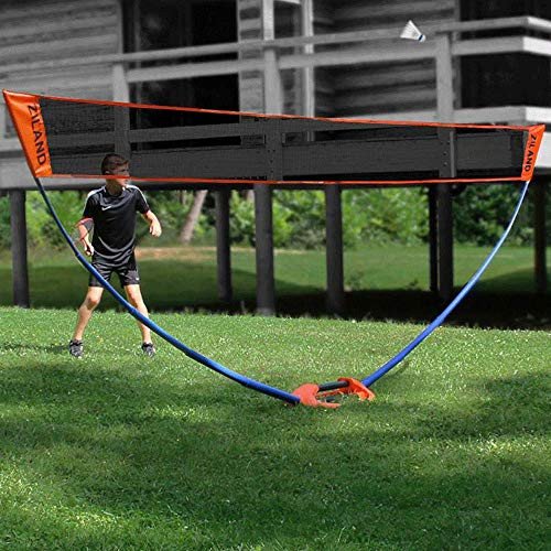 Ziland Easy Badminton Post Set • 5m Net • Outdoor • Indoor • Perfect for Garden • Beach
