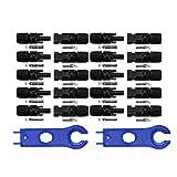 nuzamas Neue 10Sets von MC4Solar Panel Stecker Buchse für PV Solar Panel Kabel & 1Paar Solar MC4Werkzeug Schlüssel Schraubenschlüssel für Steckverbinder Montage