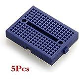 5x ZY-170 Breadboard Plaque Platine Carte Essai PCB Test 4.5x3.5cm Bleu