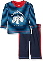 Hatley Baby Boys 0-24m Track Pant Infant Clothing Set, Tractor, 3-6 Months