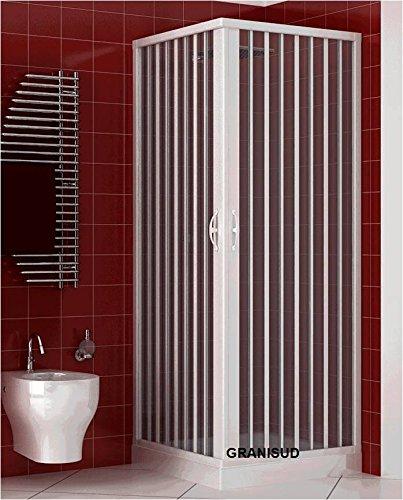 Box Dusche A Zwei Anschlüsse mit Winkel bis 90°. Hergestellt In PVC ungiftig selbstverlöschend Reduzierbare durch den Schnitt der Schiene. Farbe weiß.